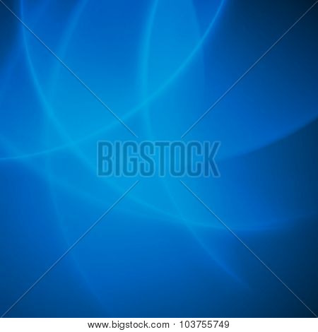 Abstract vector background blue smooth twist light bright wave lines