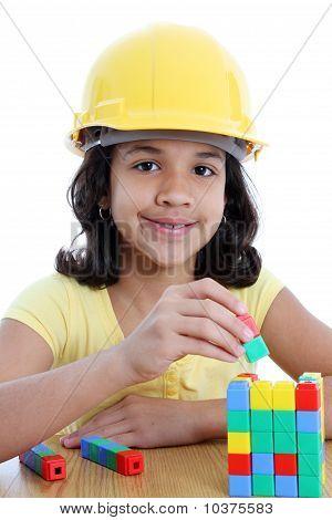 Child On White Background