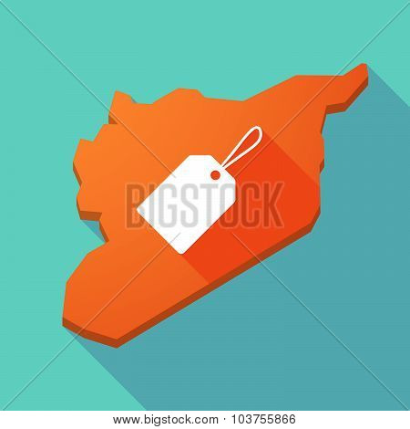 Long Shadow Syria Map With A Label