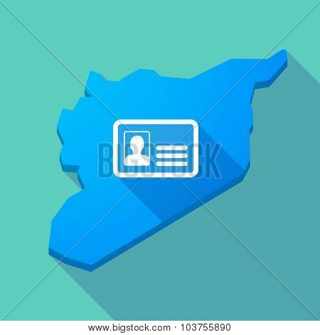 Long Shadow Syria Map With An Id Card