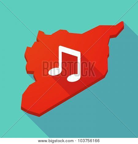 Long Shadow Syria Map With A Note Music