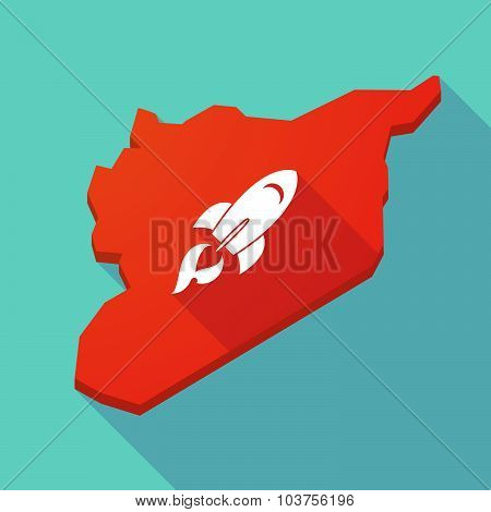 Long Shadow Syria Map With A Rocket
