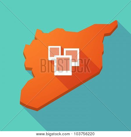 Long Shadow Syria Map With A Few Photos