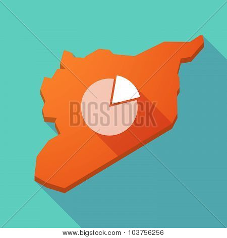 Long Shadow Syria Map With A Pie Chart
