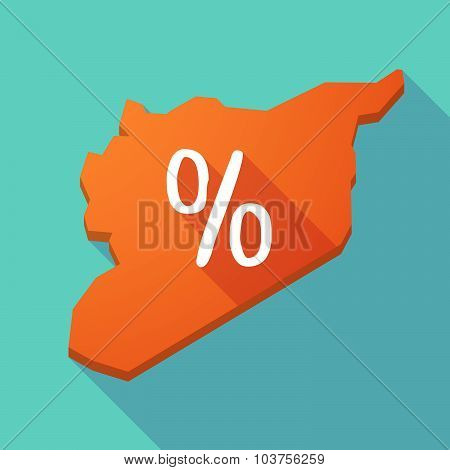 Long Shadow Syria Map With A Discount Sign