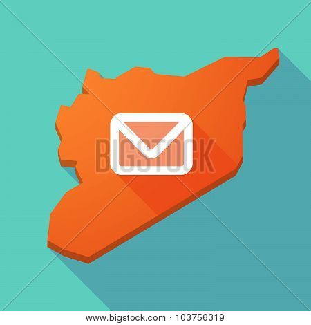 Long Shadow Syria Map With An Envelope