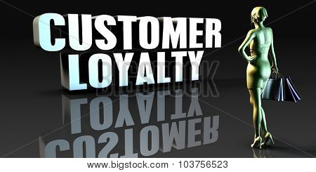 Customer Loyalty as a Concept with Lady Holding Shopping Bags