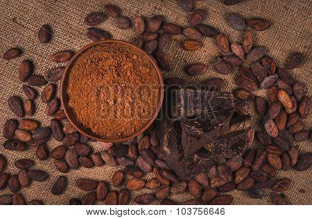 Ingredients For Preparing Chocolate
