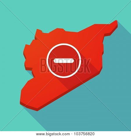 Long Shadow Syria Map With A Subtraction Sign