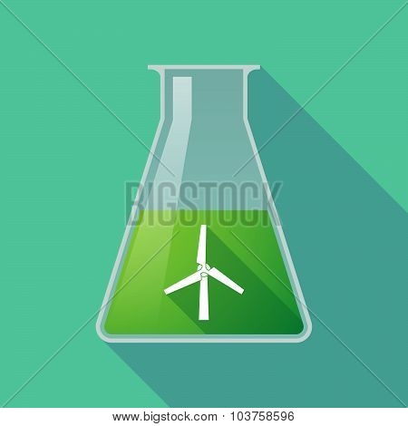 Long Shadow Chemical Test Tube Flask With A Wind Generator
