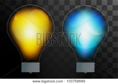 Bulb lamp transparent isolated