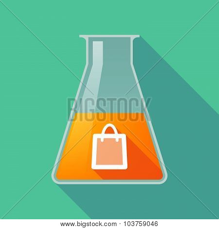 Long Shadow Chemical Test Tube Flask With A Shopping Bag