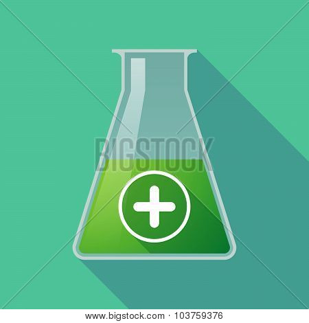 Long Shadow Chemical Test Tube Flask With A Sum Sign