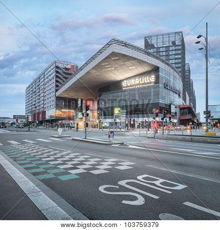 Remarkable new built modern Lille Europe railway station