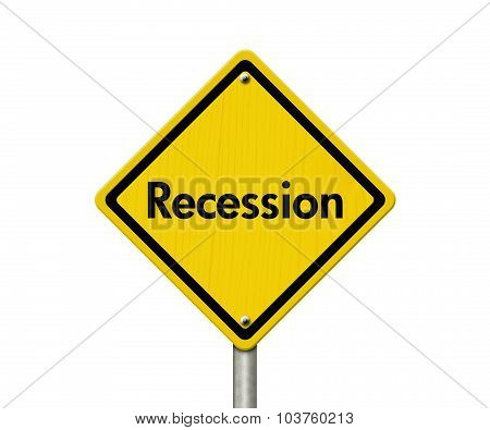Recession Warning Road Sign