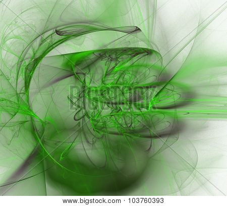 Abstract Fractal Background Green