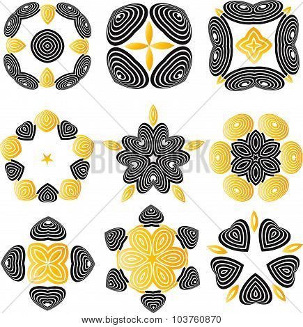 Duocolor Abstract Flower Set