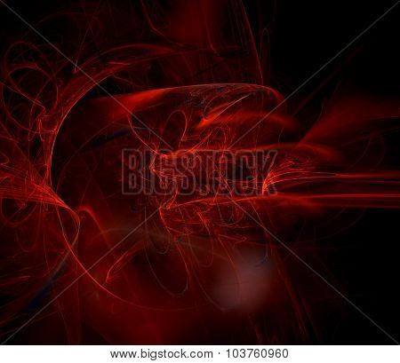 Abstract Fractal Background Red