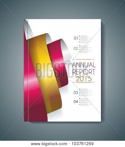 Brochure Cover Design Spiral Elements