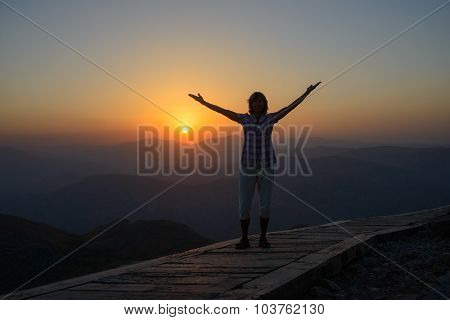 Woman Against Sunset