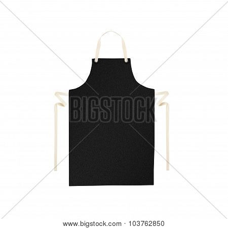 Black apron isolated on white