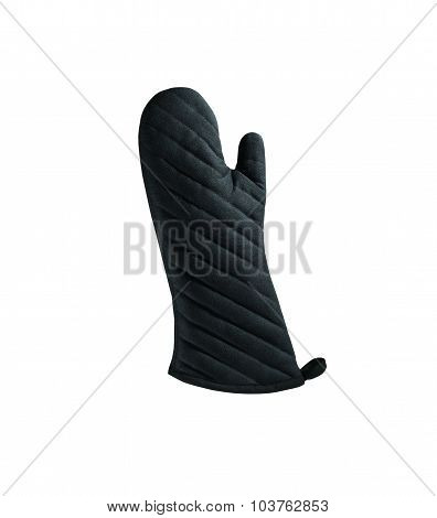 Oven mitt isolated on a white background