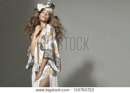 High fashion female model