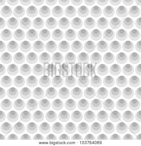 Gray Circles Seamless Pattern Background