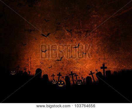 Halloween background with dark grunge effect