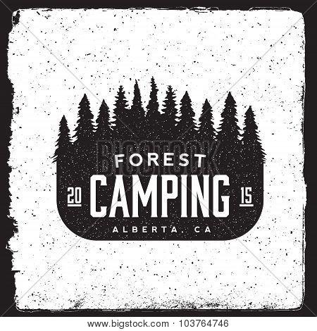 Camping Vintage Emblem