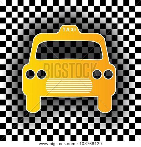 Taxi Cab Shaped Badge