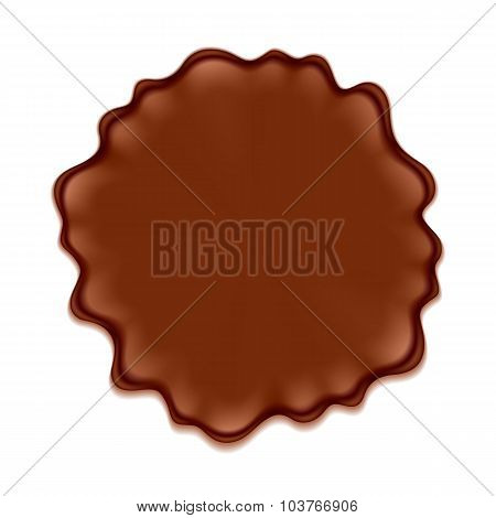 Brown blotch isolated on white background.