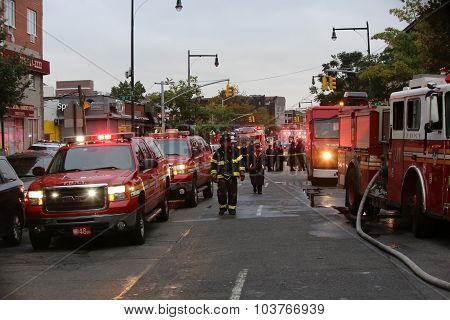 Firefighters on 13th Avenue