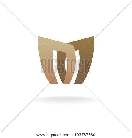 Letter M Logo Template. Architecture Building Concept.