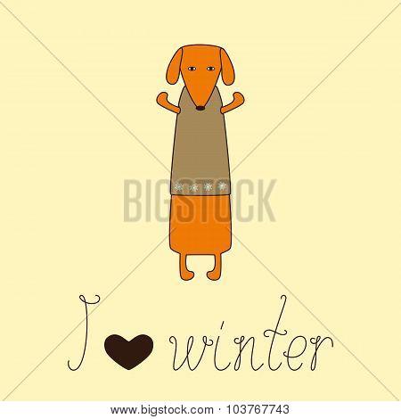 Cute Dog In Waistcoat