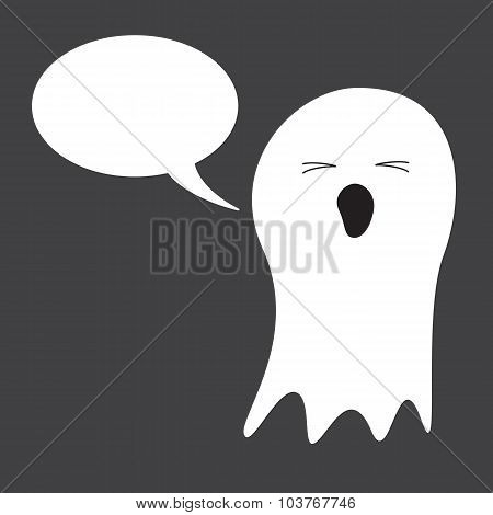 Ghost With Speech Bubble