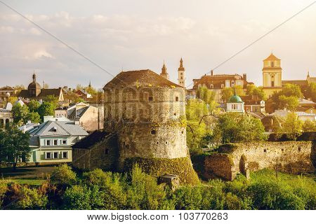 Ancient stone castle in Kamianets Podilskyi, Ukraine