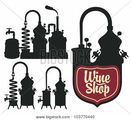 Wine shop set