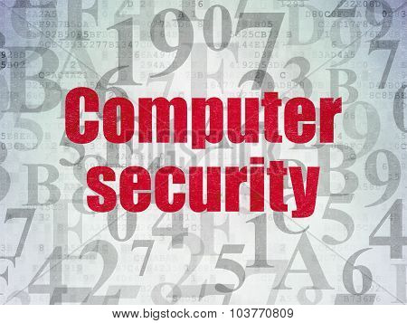 Safety concept: Computer Security on Digital Paper background