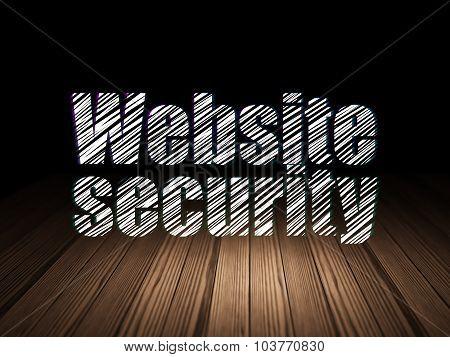 Security concept: Website Security in grunge dark room