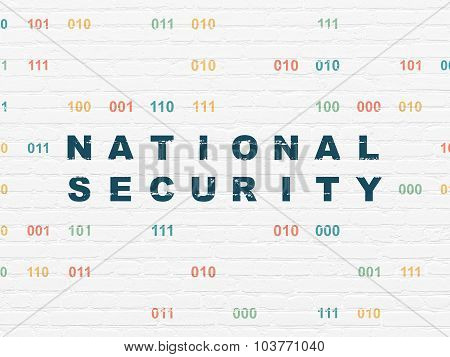 Safety concept: National Security on wall background