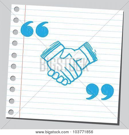Handshake in speech quotes
