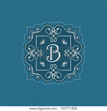 Decorative monogram background with stylish design