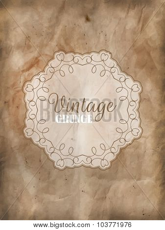 Decorative frame on a detailed grunge background