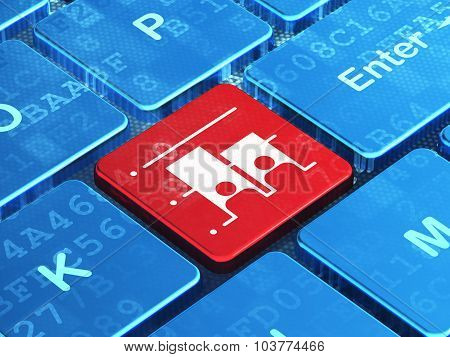 Political concept: Election on computer keyboard background