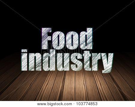 Industry concept: Food Industry in grunge dark room