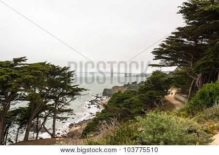 The Golden Gate Bridge in a cloudy day, San Francisco