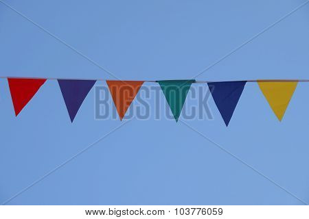 Flag Against A Blue Sky