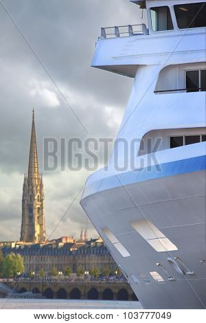 Cruise Ship In Bordeaux