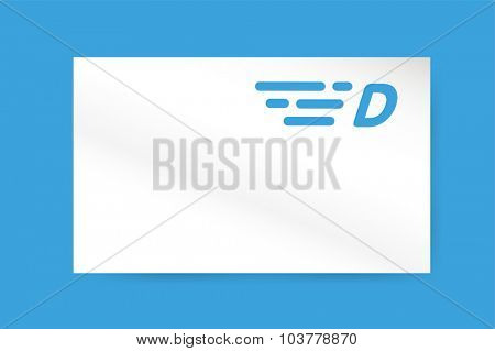 Fast line D letter logo monogram. D and lines monogram. Vector d line letter. D letter design. Abstract D letter. Motion lines d line symbol. Thin line style. Transport delivery D motion icon business